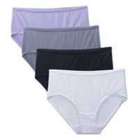 Fruit of the Loom Ladies' Breathable Low Rise Briefs, Pack of 4 7
