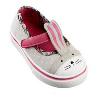 George baby Girls' Bunny Canvas Shoes 4
