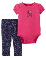 Ens. pantalon Child of Mine made by Carter's pour bébé filles - Super mignon 12 mois