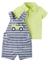 Child of Mine made by Carter's Baby Boys' Truck Printed Outfit Set 6-9 months