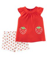 Child of Mine made by Carter's Baby Girls' 2 Piece Strawberry Outfit Set 24 months