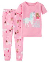Child of Mine made by Carter's Toddler Girls' 951G037 2-Piece Unicorn Pyjama 3T
