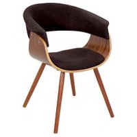 LumiSouce Vintage Mod Mid-Century Modern Chair Dark Brown