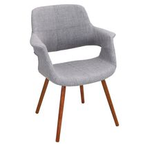 LumiSouce Vintage Flair Mid-Century Modern Chair Grey