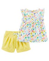 Child of Mine made by Carter's Baby Girls' 2 Piece Floral Outfit Set 18M