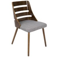 LumiSouce Trevi Mid-Century Modern Chair Grey