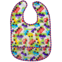 Infant Taffeta Waterproof Bib Multi