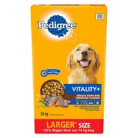 PEDIGREE VITALITY+ Steak and Vegetable flavor Dry Dog Food