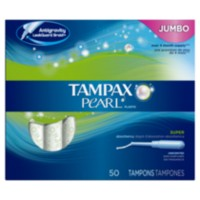 Tampax Pearl Plastic Unscented Super Tampons
