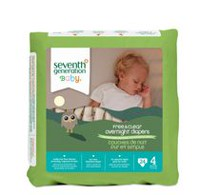 Seventh Generation Free & Clear Overnight Diapers Size 4