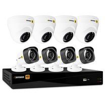 Defender® HD 1080p 8 Channel 1TB DVR Security System and 4 Dome and 4 Bullet Cameras