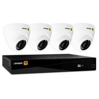 Defender HD 1080p 8 Channel 1TB DVR Security System and 4 Dome Cameras