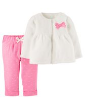 Child of Mine made by Carter's Newborn Girls' Cardigan Pant & Shirt Set 0-3