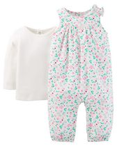 Child of Mine made by Carter's Newborn Girls' Overall Floral Outfit 3-6