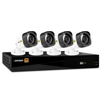 Defender® HD 1080p 8 Channel 1TB DVR Security System and 4 Bullet Cameras