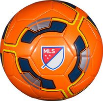 Ballon de soccer à cercles jaunes de MLS Orange
