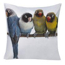 Ivory Park Budgie Print Decorative Throw Cushion