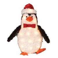 Holiday time Fluffy Penguin Sculpture