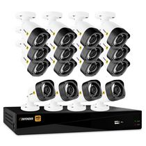 Defender® HD 1080p 16 Channel 2TB DVR Security System and 16 Bullet Cameras
