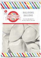 "PARTY-EH! 12"" Helium Quality Latex Balloons White"