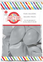 "PARTY-EH! 12"" Helium Quality Pearl Balloons Silver"