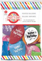 Ballons de qualité hélium en latex à imprimé de « Happy Birthday » de PARTY-EH! de 12 po