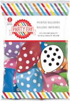 "PARTY-EH! 12"" Helium Quality Polka Dots Printed Latex Balloons"