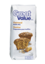 Great Value Oatmeal Muffin Mix