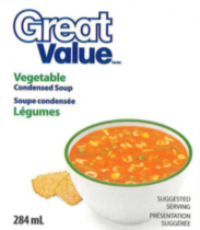 Great Value Vegetable Flavoured Condensed Soup