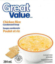 Great Value Chicken Rice Condensed Soup