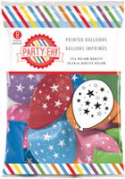 "PARTY-EH! 12"" Helium Quality Star Printed Latex Balloons"