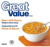 Fèves avec soupe de bacon de Great Value