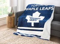 Sunbeam Toronto Maple Leafs® Heated Reversible Sherpa Throw