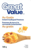 Pommes de terre a la normande instantanées au gratin de Great Value