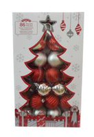 Holiday Time Shatterproof Ornaments, Red & Silver