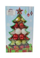 Holiday Time Shatterproof Ornaments, Red, White & Green