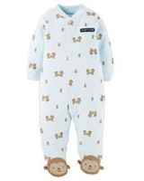 Child of Mine by Carter's Newborn Boys' Sleep n Play Monkey Outfit Blue 0-3