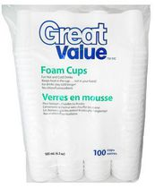 Great Value 6.5oz Foam Cups
