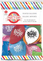 "PARTY-EH! 12"" Helium Quality ""Congrats!"" Printed Latex Balloons"