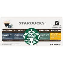 Assortiment de 50 capsules de café STARBUCKS par NESPRESSO