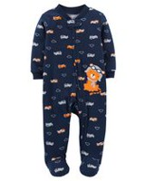 Child of Mine by Carter's Newborn Boys' Tiger Printed Sleep & Play Outfit NB