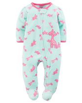 Child of Mine by Carter's Newborn Girls' Giraffe Printed Sleep & Play Outfit NB