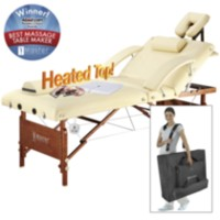 "Master Del Ray Salon Heated Top 30"" Portable Massage Table Pro Package"