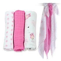 Lulujo Mini Muslin Cloth - Pretty in Pink