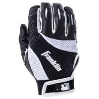 MLB Adult 2nd Skinz Medium Batting Glove Pair Black/White