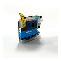 L-ink Cartouches à jet d'encres compatibles LC203 Cyan (LC203C, LC-203)