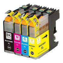 L-ink Ensemble de cartouches à jet d'encres compatibles LC103 (LC-103) (Noir, Cyan, Magenta, Jaune)