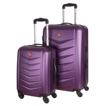 Canada Luggage Ensemble de 2 valises pivotantes à 360º, à coque solide