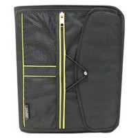 "Casemate 1.5"" 3 Ring Mesh with Bungee Solid Zippered Binder"