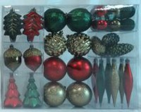 Holiday time Red/Green/Gold Shatterproof Ornaments